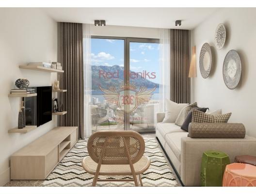 Becici'de zarif bir butik kompleksinde daireler, Karadağ'da garantili kira geliri olan yatırım, Becici da Satılık Konut, Becici da satılık yatırımlık ev