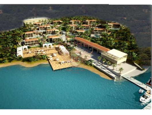 Land for sale in Tivat, Montenegro with a ready project of construction of a residential village.