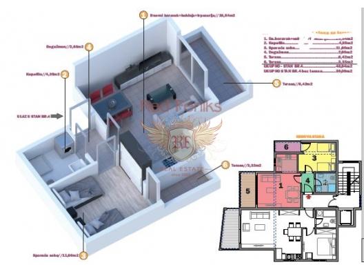 Tivat'da Yeni Yaşam Kompleksi, Region Tivat da satılık evler, Region Tivat satılık daire, Region Tivat satılık daireler