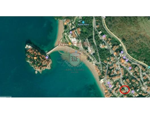 Deniz manzaralı rahat stüdyo. Sveti Stefan, Karadağ, Karadağ da satılık ev, Montenegro da satılık ev, Karadağ da satılık emlak