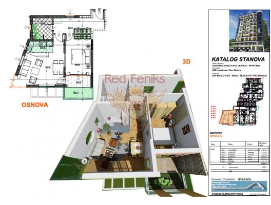 Becici'de Yeni Sitede, Montenegro da satılık emlak, Becici da satılık ev, Becici da satılık emlak