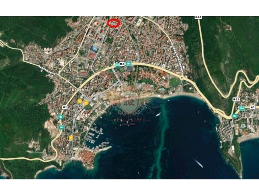 Budva'da ticari alan, karadağ da satılık dükkan, montenegro satılık cafe