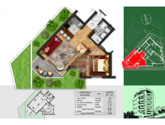 New Residential Complex in Becici, apartment for sale in Region Budva, sale apartment in Becici, buy home in Montenegro