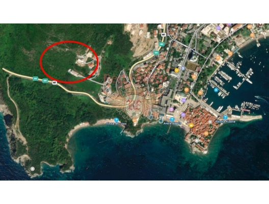 Urbanised Plot in Budva, Mogren, building land in Region Budva, land for sale in Becici Montenegro