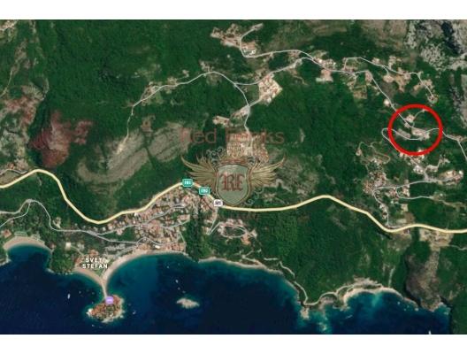 Urbanised plots in Blizikuce, building land in Region Budva, land for sale in Becici Montenegro