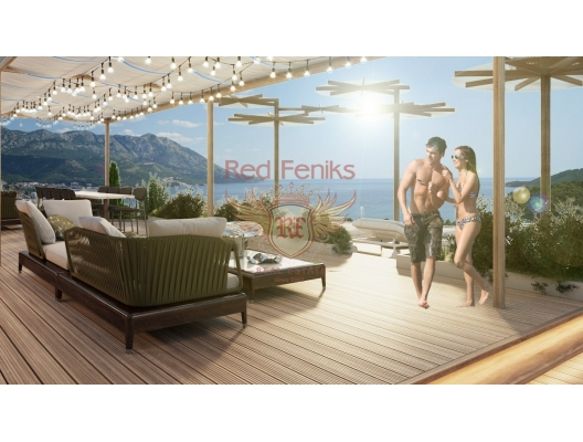 One bedroom apartments in a new panoramic complex in Becici, sea view apartment for sale in Montenegro, buy apartment in Becici, house in Region Budva buy