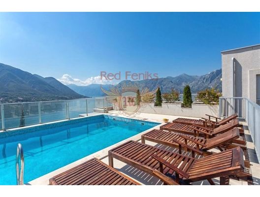 Apartment for sale in a modern complex on the shores of the Bay of Kotor! This is a great offer for those who want to invest in real estate with a great rental income.