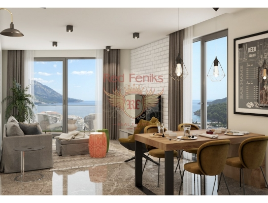 Becici'de zarif bir butik kompleksinde daireler, karadağ da kira getirisi yüksek satılık evler, avrupa'da satılık otel odası, otel odası Avrupa'da