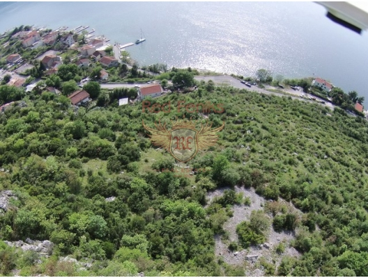 Large plot in Risan, building land in Kotor-Bay, land for sale in Dobrota Montenegro