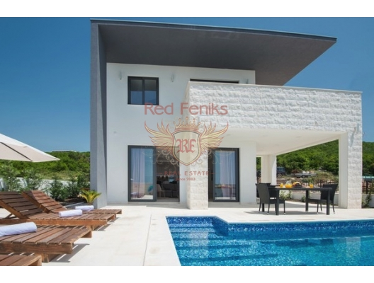 Modern House with Pool in Krimovice, Montenegro real estate, property in Montenegro, Region Budva house sale