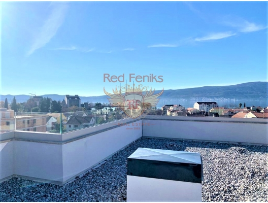 New penthouse with panoramic sea views in Tivat, apartment for sale in Region Tivat, sale apartment in Bigova, buy home in Montenegro