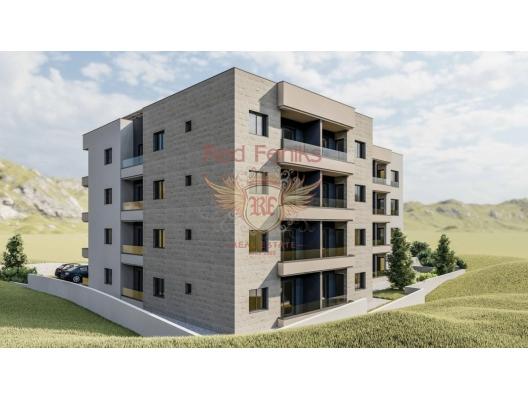 Budva'da Yeni Konut Binası 1+0, becici satılık daire, Karadağ da ev fiyatları, Karadağ da ev almak