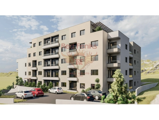 Budva'da Yeni Konut Binası 1+1, Becici da satılık evler, Becici satılık daire, Becici satılık daireler